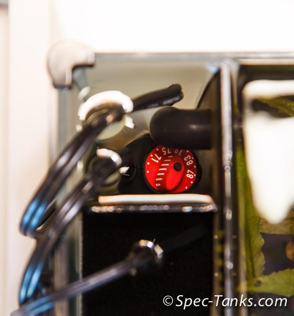 hydor theo heater in a fluval spec v aquarium