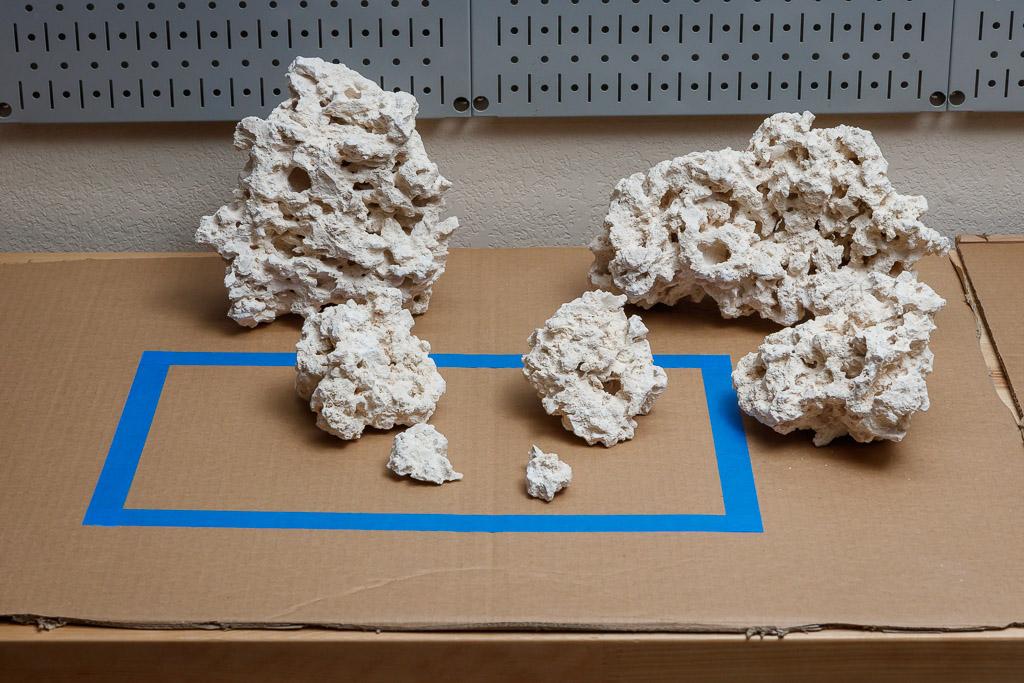 dry rock aquascaping for a nano reef aquarium